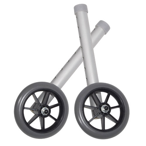 Walker Wheels 5  Fixed With Rear Glide Caps (pair)
