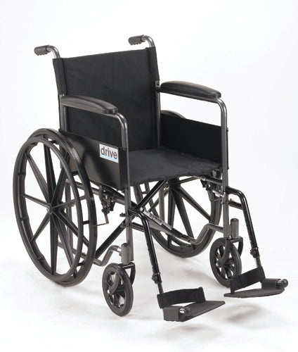 Wheelchair 18   w-Fixed Full Arms & Swingaway Det Footrests