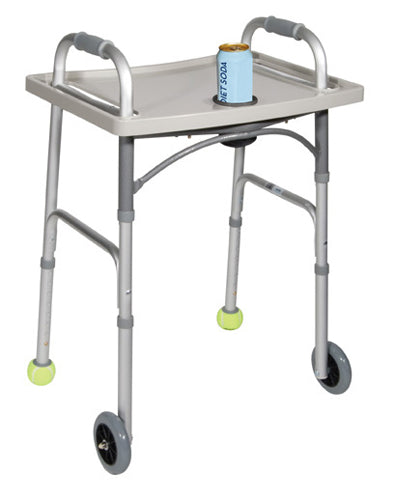 Universal Walker Tray with Cup Holder  Grey  Drive