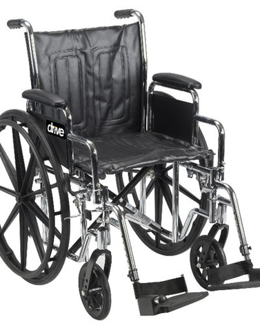 Chrome Sport WC  18  Adj Ht Detach Full Arms S-A Footrests