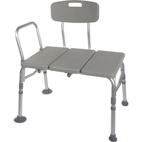 Transfer Bench Plastic (Drive) 3-Section and Backrest-Gray