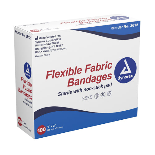 Flexible Fabric Adh Bandages 2 x 4-1-2  XL  Bx-50