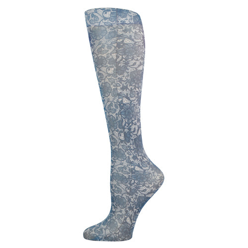 Blue Jay Fashion Socks (pr) Navy Lace 8-15mmhg