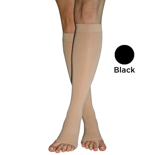Firm Surg Weight Stkngs Medium 20-30mmhg  Below Knee O-t Blk