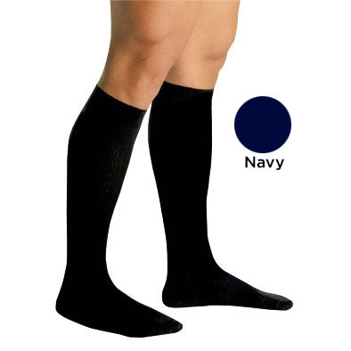 Men's Firm Support Socks 20-30mmhg  Navy  Medium