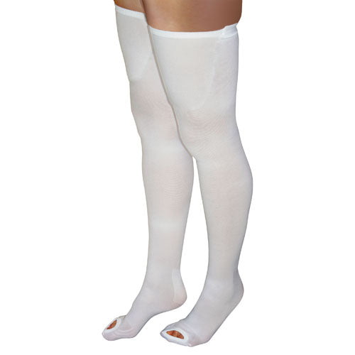 Anti-embolism Stockings Xl-lng 15-20mmhg Thigh Hi  Insp. Toe