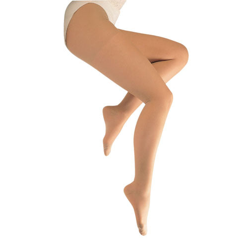 Ladies' Sheer Moderate  Queen 15-20mmhg  Panty Hose  Beige