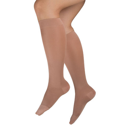 Ladies' Sheer Mild Support  Lg 15-20 Mmhg  Knee Highs  Beige