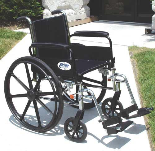 K3 Wheelchair Ltwt 16  w-DDA & S-A Footrests  Cruiser III
