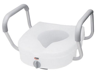 Toilet Seat  E-z Lock W-arms Adjustable Handle Width