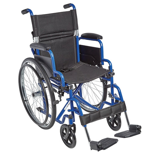 Ziggo Wheelchair  Lightweight Folding  16   Blue