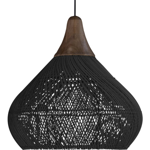 Bell lamp large black