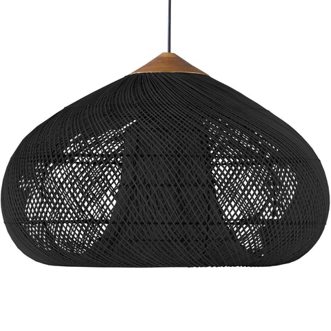 Drum lamp large black