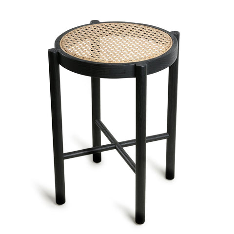 Retro webbing stool black HKliving