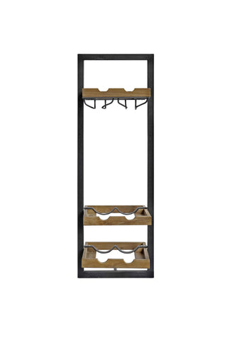 Wine rack 6 bottles & glass holder d-Bodhi