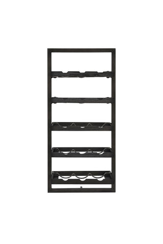Wine rack 15 bottles black d-Bodhi