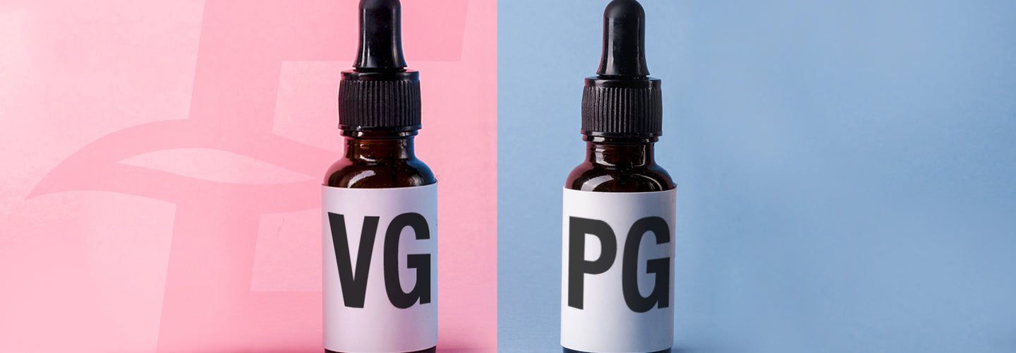 Bottles of VG and PG