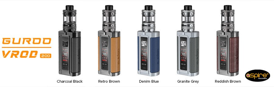 Aspire VROD 200 Watt Vape Kit, Available in five colours