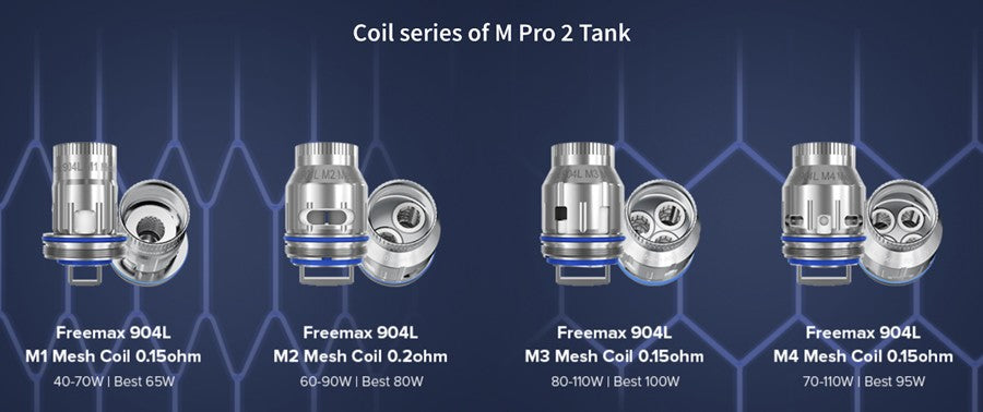Freemax Maxus 200W Vape Kit compatible coils series of the M Pro 2 featured tank