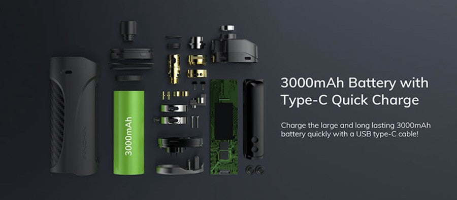 Innokin Kroma Z Vape Pod Kit featuring a 300mAh battery with USB Type-C quick charge