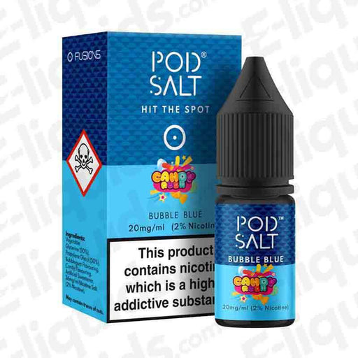 Bubble Blue Fusion Nic Salt E-liquid by Pod Salt