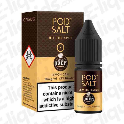 Lemon Cake Fusion Nic Salt E-liquid by Pod Salt