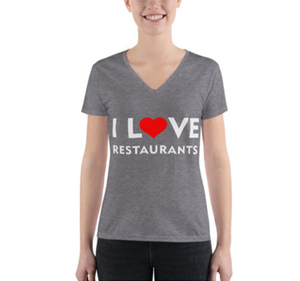 I love restaurants v-neck t
