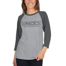 Load image into Gallery viewer, GRACIE'S Unisex 3/4 sleeve raglan shirt