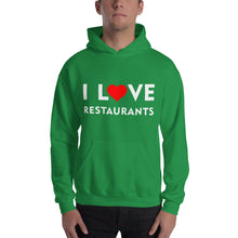 Load image into Gallery viewer, I Love Restaurants Unisex Hoodie