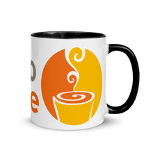 Load image into Gallery viewer, The Portico Cafe Mug with Color Inside-lg logo