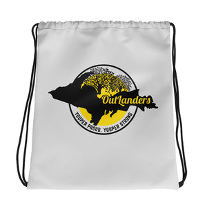 OutLanders Light Grey Drawstring bag