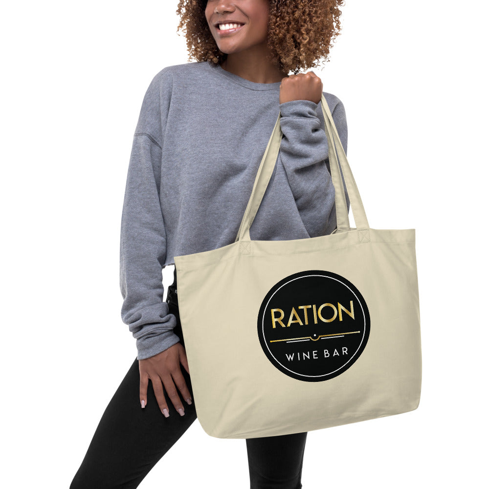Ration Wine Large organic tote bag