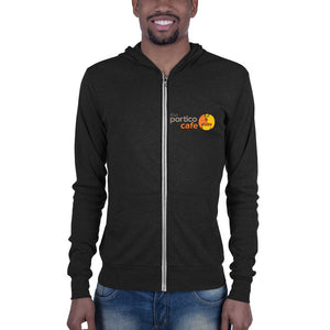 The Portico Cafe Lightweight Unisex zip hoodie