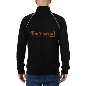 Foxtail on back Piped Fleece Jacket