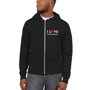 I love Restaurants Zip up Hoodie sweater