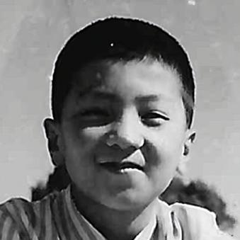 Portrait of Dirty Labs co-founder Dr. Pete He as a child.