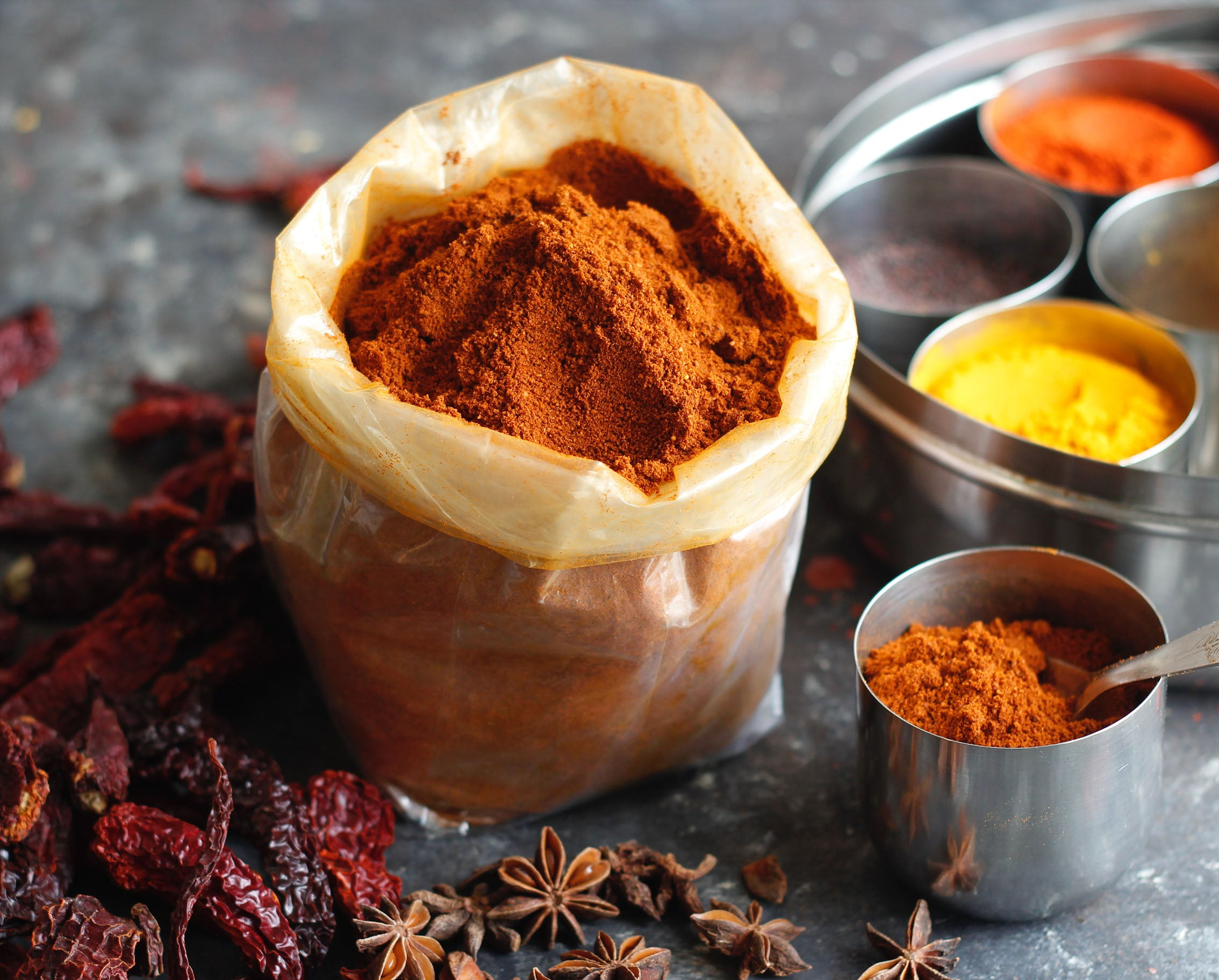 Mustard powder and other spices