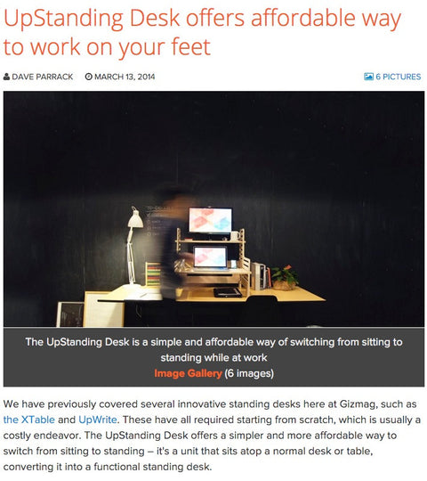 Gizmag: UpStanding Desk offers affordable way to work on your feet