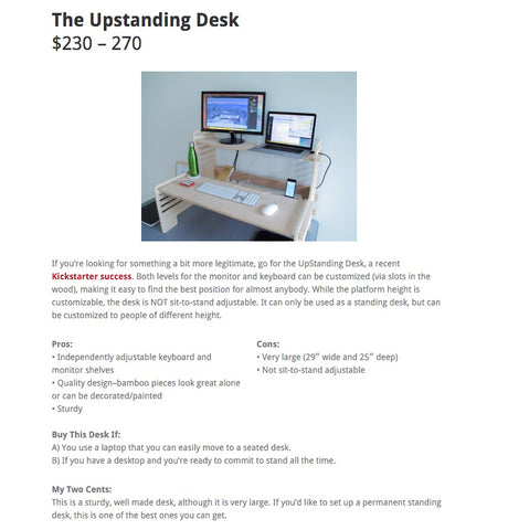 Review of The UpStanding Desk