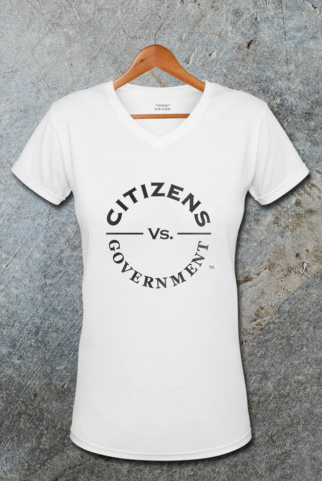 Citizens Vs. Government Female V-Neck