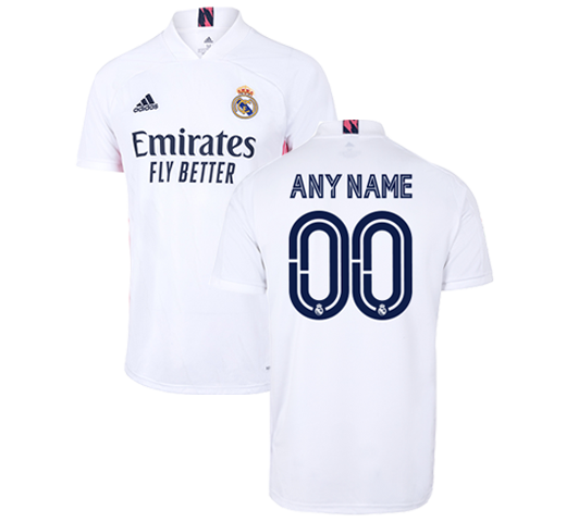 Custom Mens Real Madrid Home Shirt 20 21 White Real Madrid Cf Eu Shop