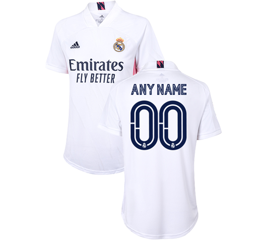 Custom Womens Real Madrid Home Shirt 20 21 White Real Madrid Cf Eu Shop
