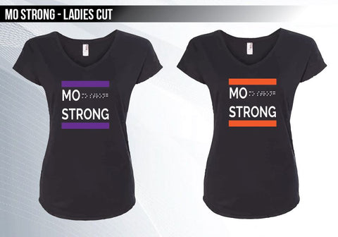 Mo Strong - Black T (Ladies Fit)