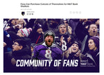 """Mo's Rows"" Ravens Community of Fans Cutout Promotion - SOLD OUT!!!!!!!"