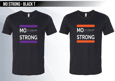 Mo Strong - Black Triblend T