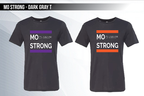 Mo Strong - Dark Gray Triblend T