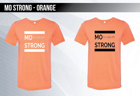 Mo Strong - Orange Triblend T