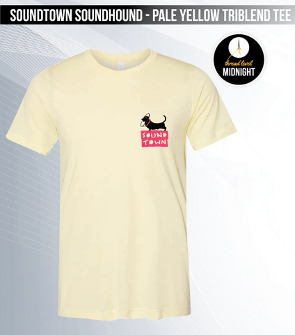 Soundtown Soundhound - Pale Yellow Triblend Tee