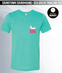 Soundtown Soundhound - Sea Green Triblend Tee