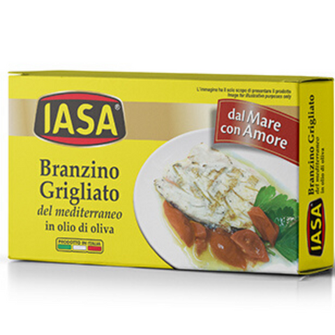 IASA Branzino Grilled Seabass in Olive Oil - 145g